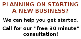"Call for our ""free 30 minute"" consultation!"